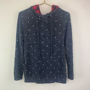 12PM by Mon Ami Gray pullover top, M